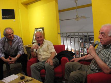 Francisco Ercolano y Miguel Larrarte en el primer encuentro de San Telmo Cuenta