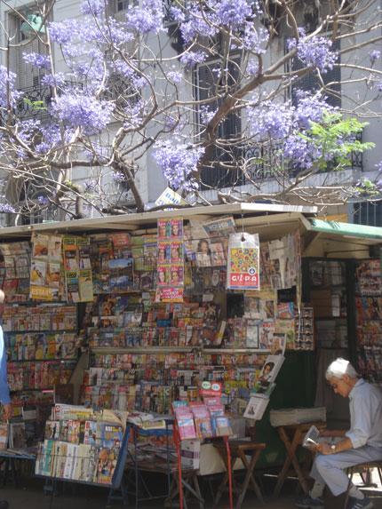 kiosco de diarios de San Telmo