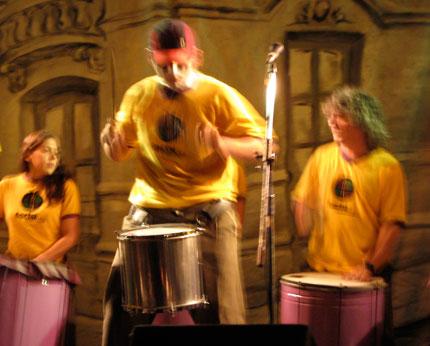 La fortubanda de San Telmo, en el lanzamiento de Carnaval Porteño Vol. 3