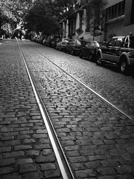 La subida de la calle Humberto 1. Foto: Alicia Segal