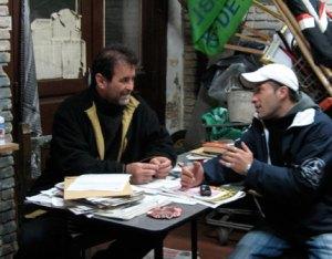 Ruben Saboulard y Leonel Cano, de la Asamblea Popular de San Telmo