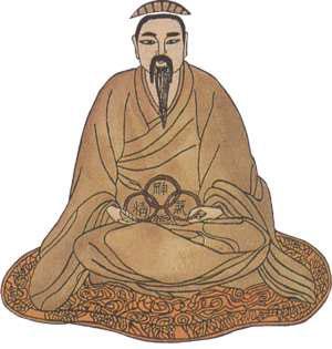 """Un dibujo de los """"tres tesoros"""" del bienestar en la medicina China: la  esencia heredada, la energía cultivada y el espíritu"""