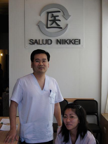 Eduardo Yoshida e Iris Yamamoto de Salud Nikkei
